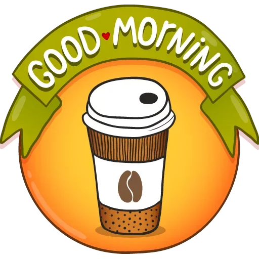 Goodmorning - Tray Sticker