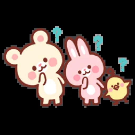 Bear & Bunny - Sticker 5