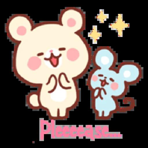 Bear & Bunny - Sticker 22