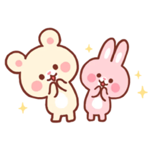 Bear & Bunny - Sticker 27