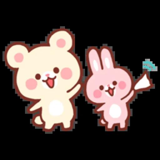 Bear & Bunny - Sticker 24