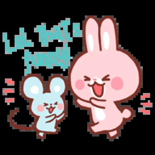 Bear & Bunny - Sticker 2