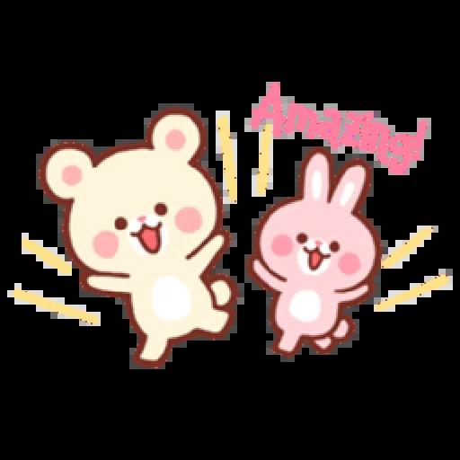 Bear & Bunny - Sticker 10