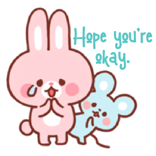 Bear & Bunny - Sticker 3