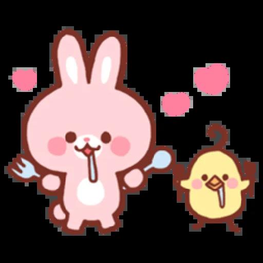 Bear & Bunny - Sticker 28