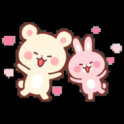 Bear & Bunny - Sticker 14