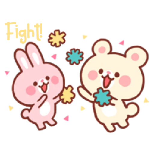 Bear & Bunny - Sticker 12