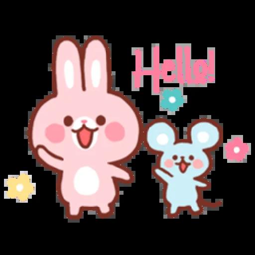 Bear & Bunny - Sticker 1