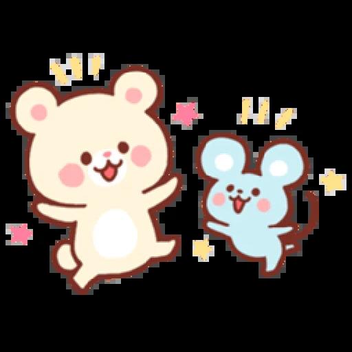 Bear & Bunny - Sticker 4