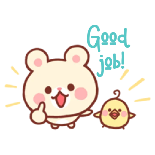 Bear & Bunny - Sticker 23