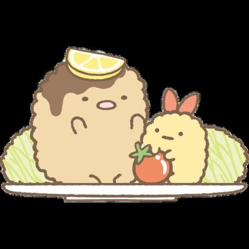角落生物 - 炸豬扒 - Sticker 14