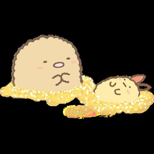 角落生物 - 炸豬扒 - Sticker 10