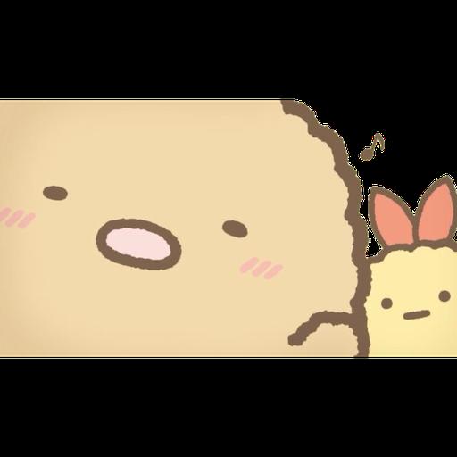 角落生物 - 炸豬扒 - Sticker 2