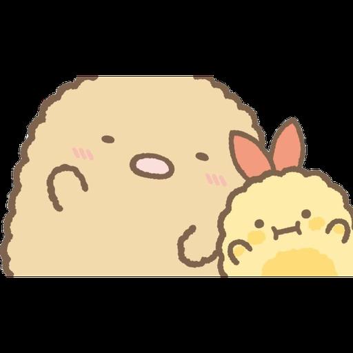 角落生物 - 炸豬扒 - Sticker 5
