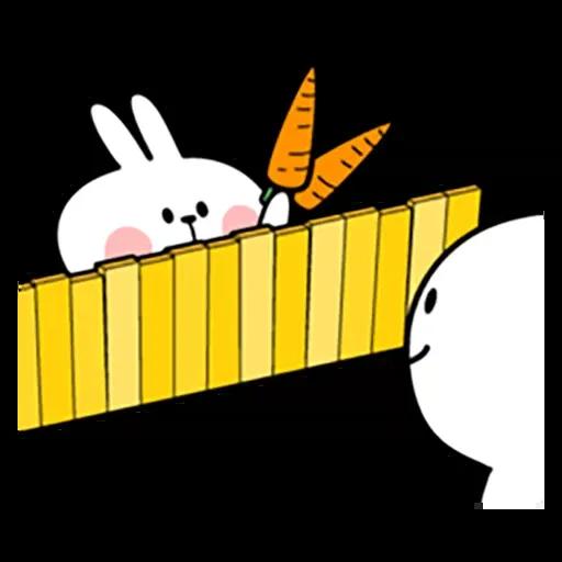 Spoiled rabbit 忙碌碌版 2 - Tray Sticker