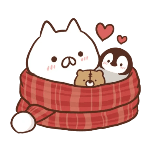 Penguin and Cat Days New Year's Gift2 - Sticker 18