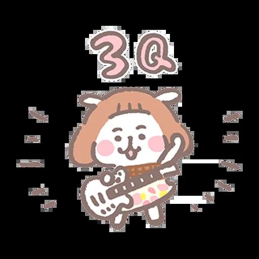 夏芽羊咩咩 (2) - Tray Sticker