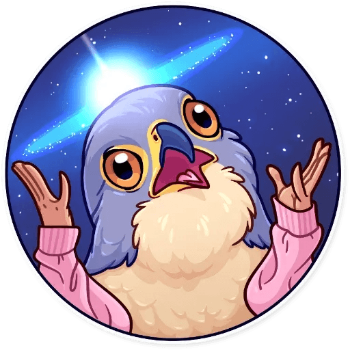 Bird with hands - Sticker 30