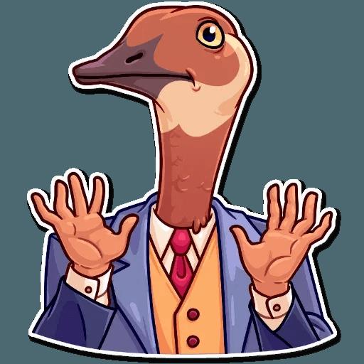 Bird with hands - Sticker 14