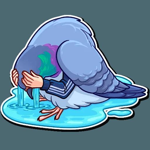 Bird with hands - Sticker 13