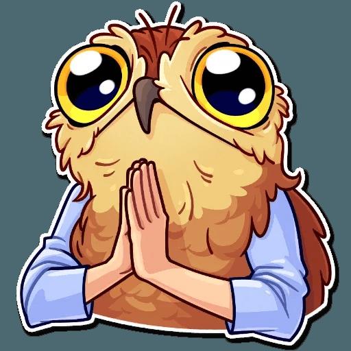 Bird with hands - Sticker 21