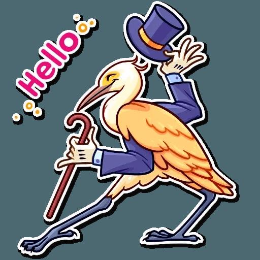 Bird with hands - Sticker 5