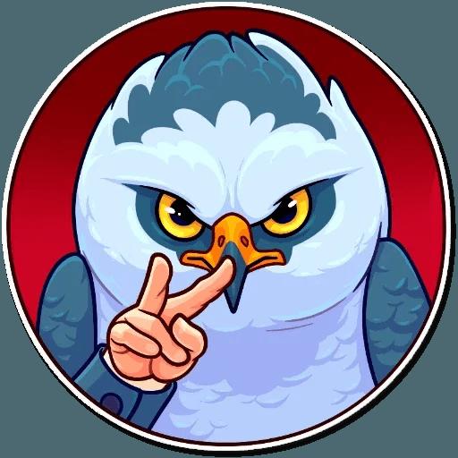 Bird with hands - Sticker 18