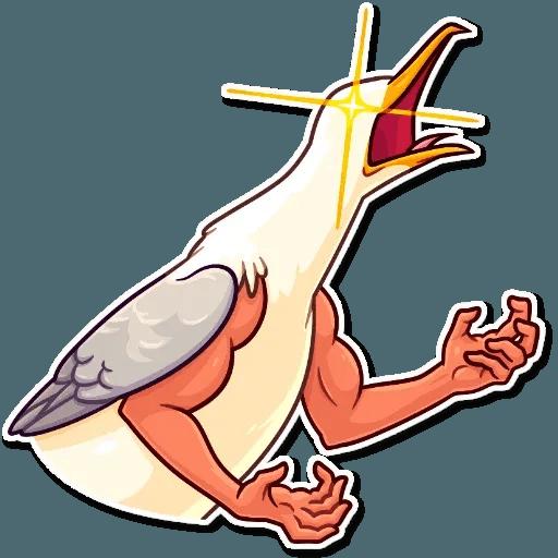 Bird with hands - Sticker 22