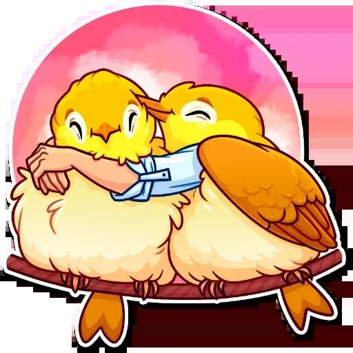 Bird with hands - Sticker 6