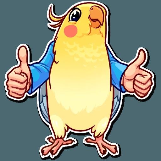 Bird with hands - Sticker 3
