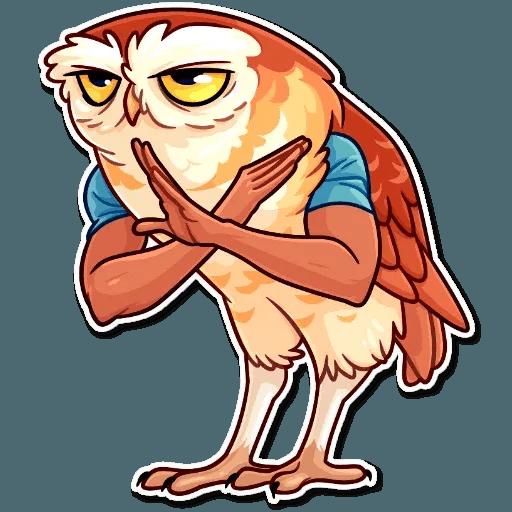 Bird with hands - Sticker 16