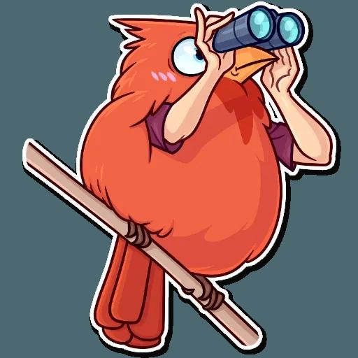Bird with hands - Sticker 24