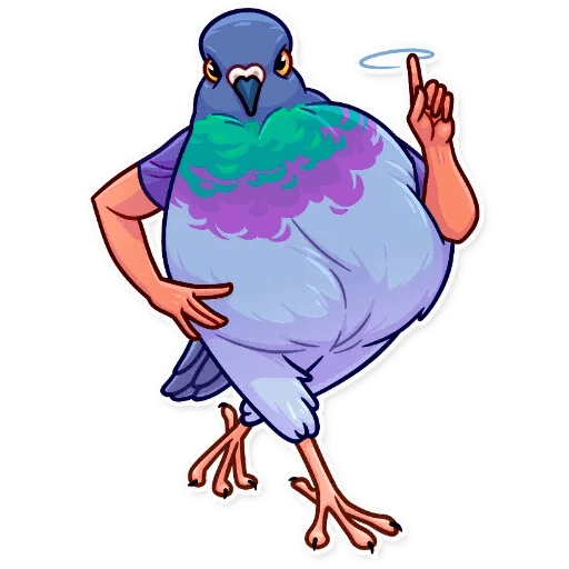Bird with hands - Sticker 9