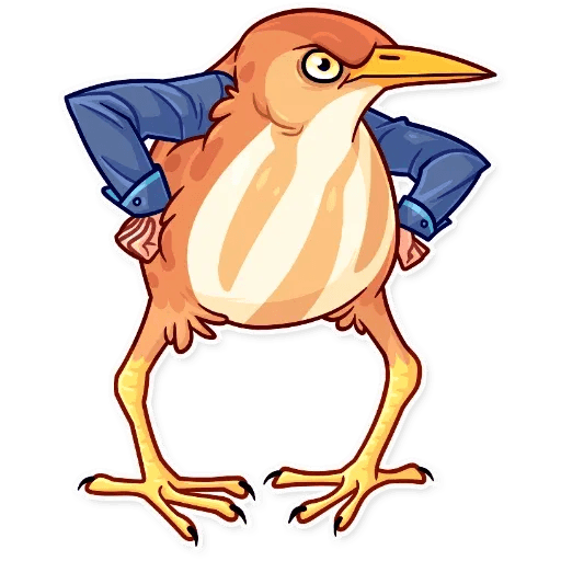 Bird with hands - Sticker 10