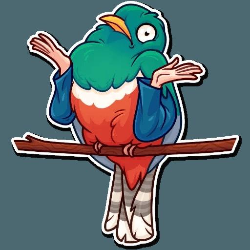 Bird with hands - Sticker 7