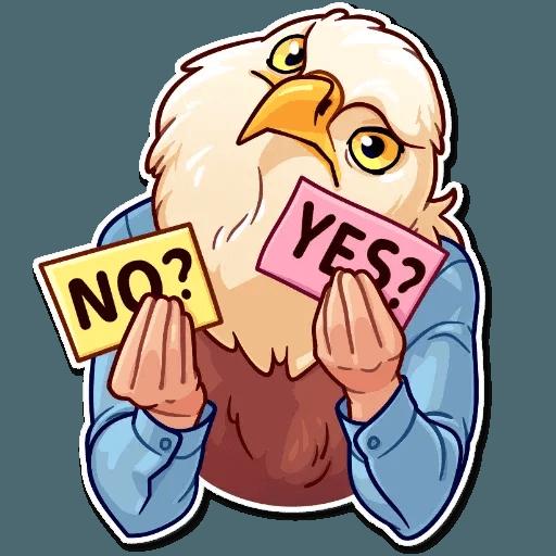 Bird with hands - Sticker 29