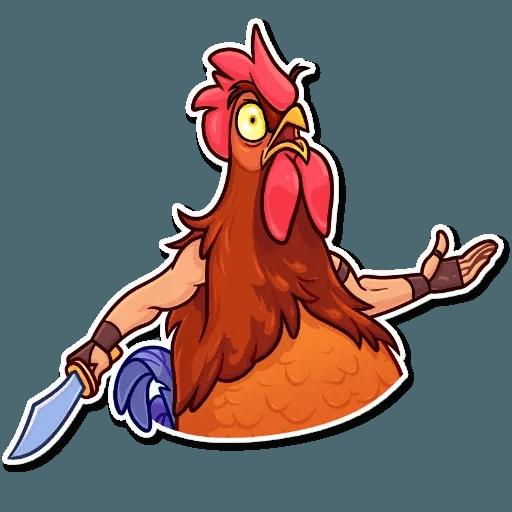 Bird with hands - Sticker 4