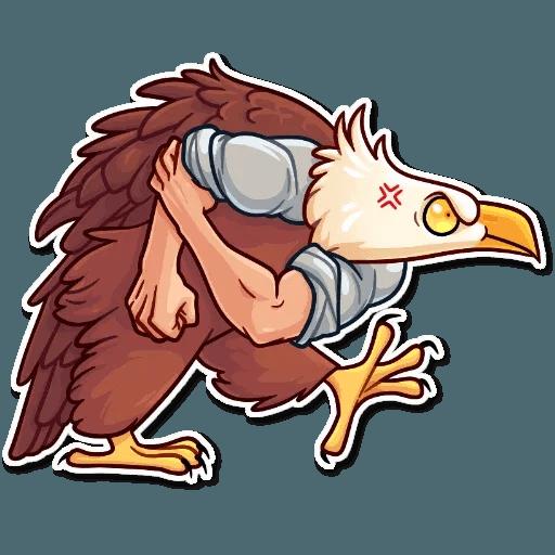 Bird with hands - Sticker 26