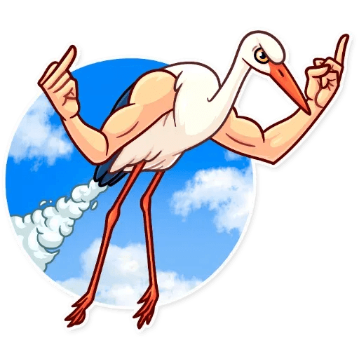 Bird with hands - Sticker 17