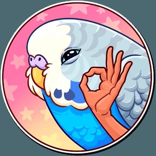 Bird with hands - Sticker 11