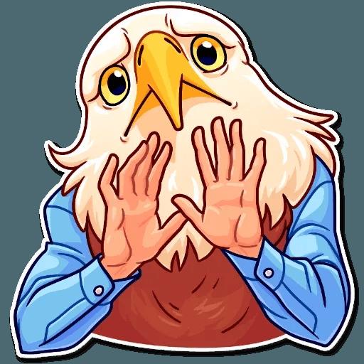 Bird with hands - Sticker 28