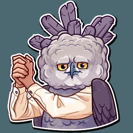 Bird with hands - Sticker 23