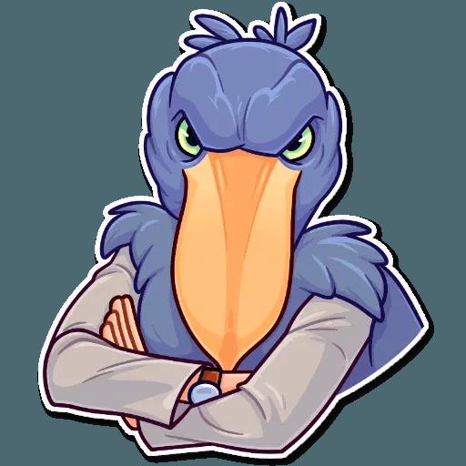Bird with hands - Sticker 20