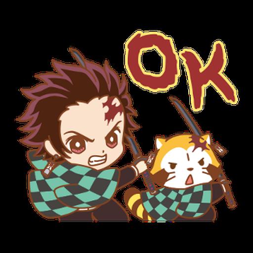 Kimetsu no Yaiba × Rascal #1 - Sticker 1