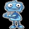RoboBlues - Tray Sticker