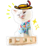 Cute cat - Tray Sticker