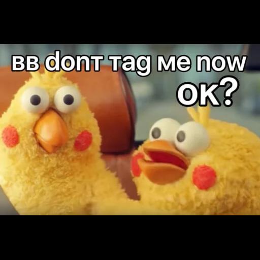 黃色小雞2 - Tray Sticker