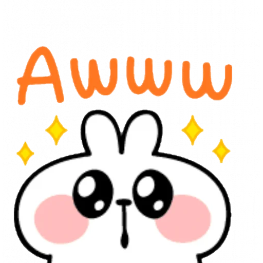 Spoiled rabbit emoji with word - Sticker 13