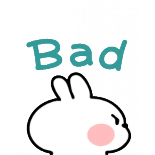 Spoiled rabbit emoji with word - Sticker 14