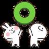 Spoiled rabbit 02 - Tray Sticker